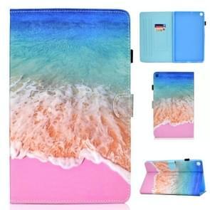 Voor Samsung Galaxy Tab A7 (2020) T500 Gekleurd tekenpatroon Horizontaal Flip PU Lederen hoesje met Holder & Card Slots & Anti-skid Strip & Sleep / Wake-up Function(Ocean)