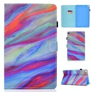 Voor Samsung Galaxy Tab A7 (2020) T500 Gekleurd tekenpatroon Horizontaal Flip PU Lederen hoesje met Holder & Card Slots & Anti-skid Strip & Sleep / Wake-up Function(Kleurrijk Marmer)