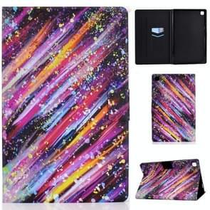 Voor Samsung Galaxy Tab A7 (2020) T500 Colored Drawing Pattern Voltage Horizontal Flip Black TPU + PU Leather Case met Holder & Card Slots & Anti-skid Strip & Sleep / Wake-up Function(Meteor)