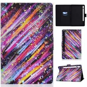 Voor Samsung Galaxy Tab S7 11.0 T870 Colored Drawing Pattern Voltage Horizontal Flip Black TPU + PU Leather Case met Holder & Card Slots & Anti-skid Strip & Sleep / Wake-up Function(Meteor)