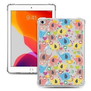 Voor iPad Mini 5 / 4 / 3 / 2 / 1 Painted Dropproof TPU Beschermhoes (Rainbow Elephant)