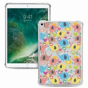 Voor iPad Pro 10 5 inch / iPad Air (2019) Painted Dropproof TPU Beschermhoes (Rainbow Elephant)
