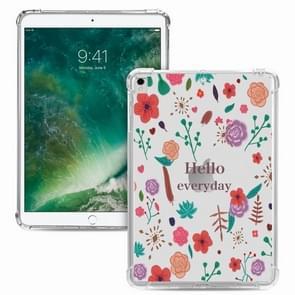 Voor iPad Pro 10 5 inch / iPad Air (2019) Painted Dropproof TPU Beschermhoes (Hallo dagelijks)