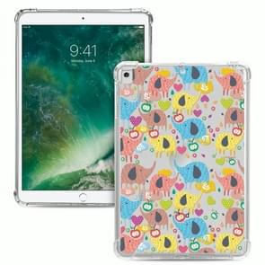 Voor iPad 10.2 & 10.2 (2020) Painted Dropproof TPU Protective Case (Rainbow Elephant)