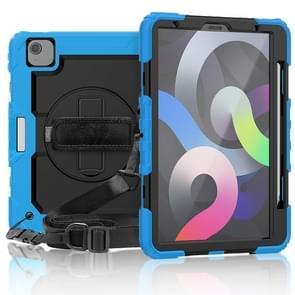 Schokbestendige kleurrijke siliconen + PC Beschermhoes met houder & schouderband & handband & pensleuf Voor iPad Air (2020) 10.9 (Lichtblauw)