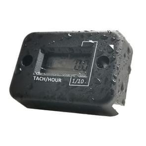 CS-1181A1 DJ-102 Motor motorboot ATV benzinemotor waterdicht LCD-sensor toerenteller uurmeter timer (Zwart)