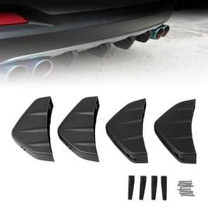 4 PCS Auto Algemene Shark Fin Achterspoiler Bumper Chassis Decoratie