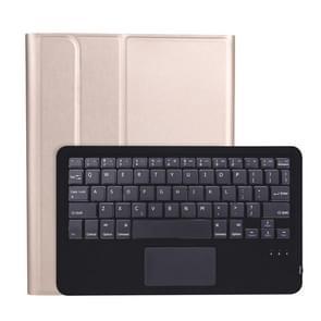 A098B-A Afneembare ABS Ultradun Bluetooth-toetsenbord + TPU beschermhoes voor iPad Air 4 10 9 inch (2020)  met Stand & Pen Slot & Touch(Goud)