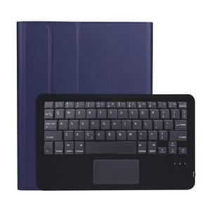 A098B-A Afneembare ABS Ultradun Bluetooth-toetsenbord + TPU beschermhoes voor iPad Air 4 10 9 inch (2020)  met Stand & Pen Slot & Touch(Donkerblauw)