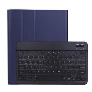 A098BS Afneembare Ultra-dunne Backlight Bluetooth-toetsenbord beschermhoes voor iPad Air 4 10 9 inch (2020)  met Stand & Pen Slot (Donkerblauw)
