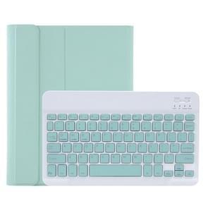 C098B Afneembare ABS Ultradunne Candy Colors Bluetooth Keyboard Beschermhoes voor iPad Air 4 10 9 inch (2020)  met Stand & Pen Slot(Groen)