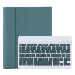 C098B Afneembare ABS Ultradunne Candy Colors Bluetooth Keyboard Beschermhoes voor iPad Air 4 10 9 inch (2020)  met Stand & Pen Slot (Donkergroen)