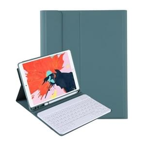 T098B Geïntegreerde Ultradunne Candy Colors Bluetooth-toetsenbord beschermhoes voor iPad Air 4 10 9 inch (2020)  met Stand & Pen-sleuf (Donkergroen)