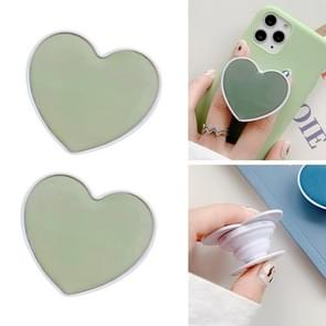 2 PCS Solid Color Love Airbag Telefoon Stand Ring Houder (Avocado Green)