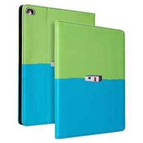 Contrast kleur PU Leder Horizontale Flip Lederen Case met Holder & Sleep / Wake-up Functie Voor iPad Pro 10 5 inch & Air 3(Groen Blauw)