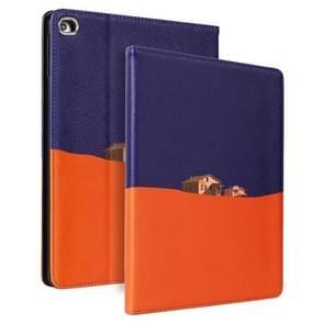 Contrast kleur PU Leder Horizontale Flip Lederen Case met Holder & Sleep / Wake-up Functie Voor iPad Pro 10 5 inch & Air 3(Paars Oranje)