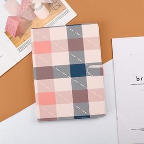 Plaid Pattern Horizontale Flip Leather Case met Holder & Sleep / Wake-up Functie Voor iPad Pro 10 5 inch & Air 3(Pink)