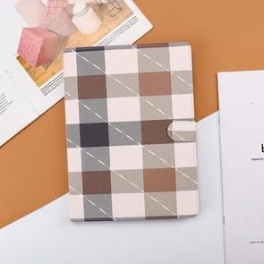 Plaid Pattern Horizontale Flip Leather Case met Holder & Sleep / Wake-up Functie Voor iPad Pro 10 5 inch & Air 3(Koffie)