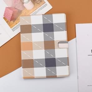 Plaid Pattern Horizontale Flip Leather Case met Holder & Sleep / Wake-up Functie Voor iPad Pro 10 5 inch & Air 3(Bruin)