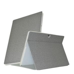 Voor ALLDOCUBE X Neo Business Style Anti-slip Texture Horizontale Flip PU Lederen beschermhoes met houder(Grijs)