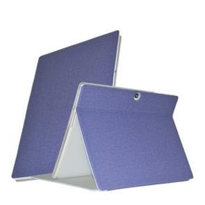 Voor ALLDOCUBE X Neo Business Style Anti-slip Textuur Horizontale Flip PU Lederen beschermhoes met houder(blauw)