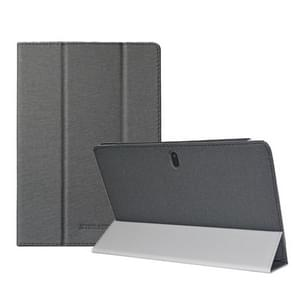 Voor TECLAST P10SE Anti-slip textuur horizontale flip leder beschermhoes met houder(zwart)
