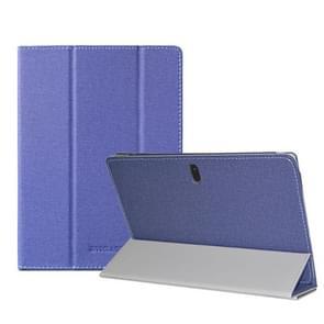 Voor TECLAST P10SE Anti-slip textuur horizontale flip leder beschermhoes met houder(blauw)