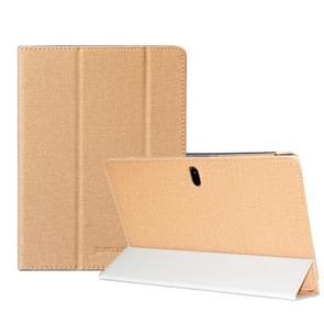 Voor TECLAST P10SE Anti-slip textuur horizontale flip lederen beschermhoes met houder(Goud)
