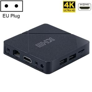 KH3 4K Smart TV Box met afstandsbediening  Android 10.0  Allwinner H313 Quad Core ARM Cortex A53 2GB+16GB  Support LAN  AV  HDMI  USBx2 TF Card  Plug Type:EU Plug
