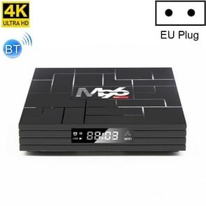 M96 4K Smart TV Box  Android 9.0  RK3318 Quad Core 64bit Cortex-A53  4GB+32GB  Support LAN  AV  HDMI  USB  TF Card  2.4G/5G WIFI  Plug Type:EU Plug