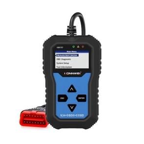 KONNWEI KW350 OBDII 12V Auto Diagnostiek Detector Scanner met 2 inch Zwart-Wit Scherm V007 voor Audi / Volkswagen