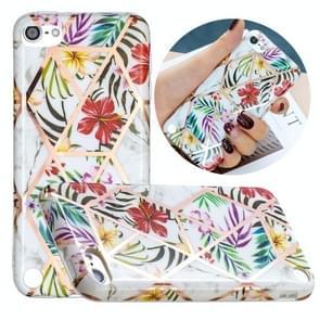 Volledige plating Splicing Vergulde beschermhoes voor iPod Touch 6 / 5 (Tropical Rainforest Color Matching)