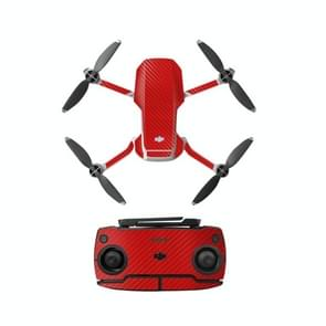 Sunnylife MM-TZ439 Waterproof PVC Drone Body + Arm + Afstandsbediening Decoratieve Beschermende Stickers Set voor DJI Mavic Mini (Carbon Texture Red)