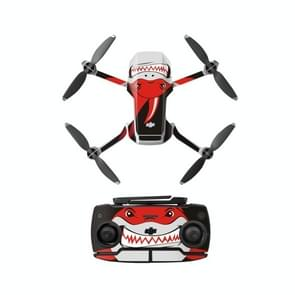 Sunnylife MM-TZ439 Waterproof PVC Drone Body + Arm + Afstandsbediening Decoratieve Beschermende Stickers Set voor DJI Mavic Mini (Shark Red)