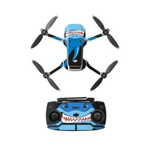 Sunnylife MM-TZ439 Waterproof PVC Drone Body + Arm + Afstandsbediening Decoratieve Beschermende Stickers Set voor DJI Mavic Mini (Shark Blue)