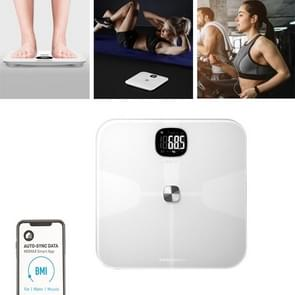 Momax EW1SW WiFi Smart Health Tracker Body Scale Tempered Glass Electronic Digital Weight Balance LCD Display Weigher(Wit)