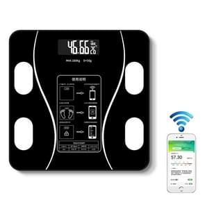 Household Smart Body Fat Elektronische Weegschaal  Batterij Versie (Zwart)