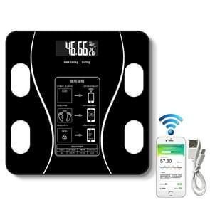 Household Smart Body Fat Elektronische Weegschaal  USB-oplaadversie (Zwart)