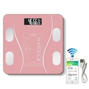 Household Smart Body Fat elektronische weegschaal  USB-oplaadversie (roze)