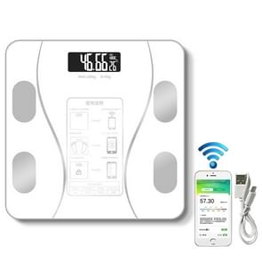 Household Smart Body Fat elektronische weegschaal  USB-oplaadversie (wit)