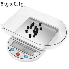 MH-884 6Kg x 0.1g High Accuracy Digital Electronic Portable Kitchen Scale Balance Device with 3.5 inch LCD Screen
