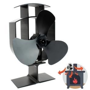3-Blade aluminium warmte aangedreven open haard kachel ventilator