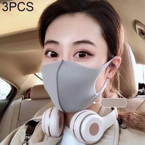 3 PCS Stofbestendig Ademend windbestendig mistbestendig wegwerpmasker(grijs)