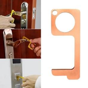 2 PCS Portable Quarantine Virus Open Door Press Lift Key Ring (Rood)