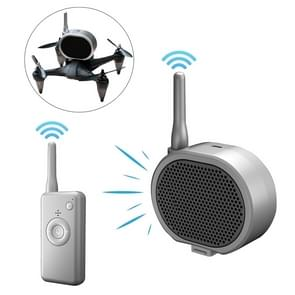 Real Time Pager Portable Speaker Lange afstand Interference Free Luidspreker voor Drone (Dark Gray)