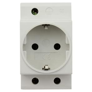 16A Modular Rail Type Socket Power Adapter, EU Plug