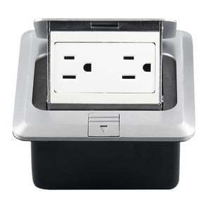 Hidden Pop-up Aluminum Alloy Computer Floor Socket with Cover Bottom Box, US Plug