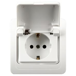 Ceramic Power Waterproof Socket with Cover, EU Plug