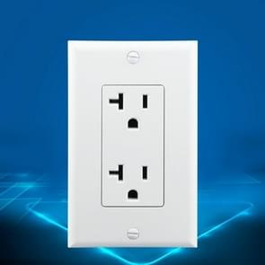 PC Double-connection Power Socket Switch, US Plug, Round White UL Single Control