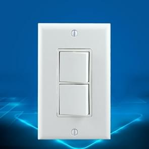 PC Double-connection Power Socket Switch, US Plug, Round White UL Two Opening Single Control